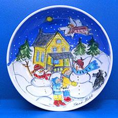 Our Snow Friends Bowl by Sue Bolt