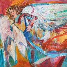 Patsy Angel Note Card by Sue Bolt