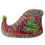 Elf Shoe Ornament by Lori Bolt