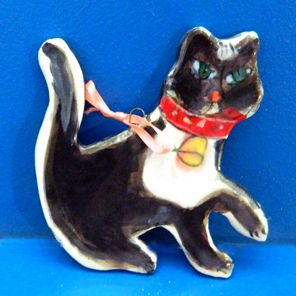 Reneé Black Cat Ornament by Sue Bolt