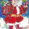 Santa Has a Puppy Original Painting by Sue Bolt
