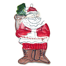 Santa''s Busy Ornament by Sue Bolt