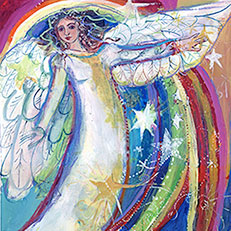Seasons of Sue Bolt Angel Painting