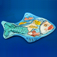 She Lives Under the Sea Mermaid Platter by Sue Bolt