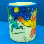 Skating Party Large Mug by Sue Bolt