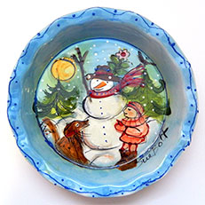 Ceramic Pie Plate by Sue Bolt