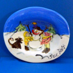 Snow Day Comes Early Soap Dish by Sue Bolt