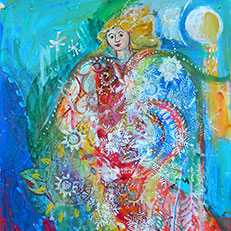 Angel Painting by Sue Bolt