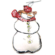 Snowman Ornament by Sue Bolt