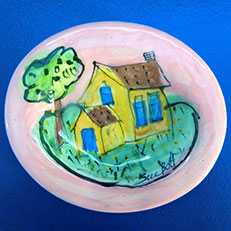 Spring Cottage - Soap Dish by Sue Bolt