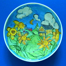 Summer Field Bowl by Sue Bolt