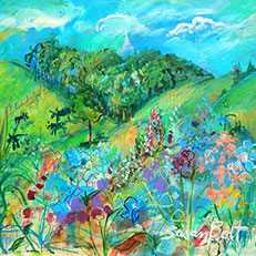 Summer Landscape - Painting by Sue Bolt