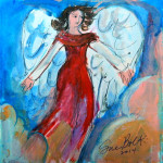 Sunset Angel Original Painting by Sue Bolt