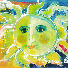Sunshine Painting by Sue Bolt