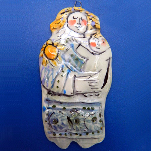 Sweet Mother and Child Ornament by Sue Bolt