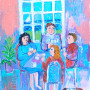 The Card Players - Original Painting by Sue Bolt