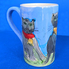 The Cat's Meow Ceramic Mug by Sue Bolt