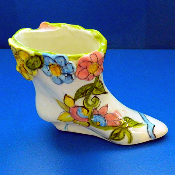 The Garden Boot Shoe Vase by Sue Bolt