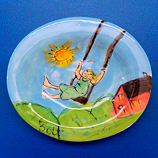 The Swing Ceramic Soap Dish by Sue Bolt
