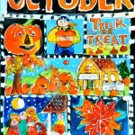 Trick or Treat - Acrylic Painting by Sue Bolt