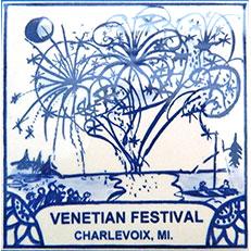 Venetian Festival Tile by Russ Bolt