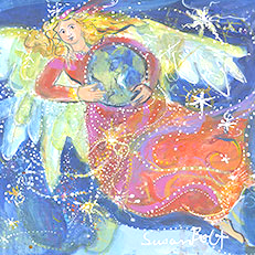 We Are Stardust - Angel Painting by Sue Bolt