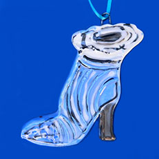 Wintertime Bootie Ornament by Lori Bolt