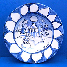 Wintertime in Blue Bowl by Sue Bolt